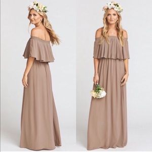 Show me your Mumu Hacienda Dune Chiffon Maxi Dress